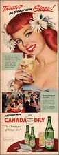 1948  vintage beverage AD CANADA DRY GINGER ALE Ginger the  cute red head 052520