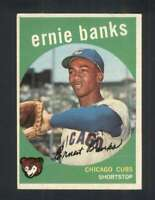 1959 Topps #350 Ernie Banks EXMT+ Cubs 122847
