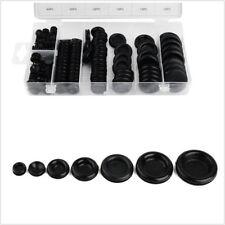 170 Pcs 7 Sizes Black Assortment Autos Rubber Grommet Firewall Hole Wire Gasket