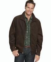 $125 Weatherproof Brown Micro Suede Washable Lightweight Windbreaker Jacket