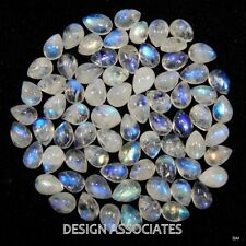 NATURAL WHITE MOONSTONE 6x4 MM PEAR CUT CALIBRATED COMMERICAL 10 PC SET