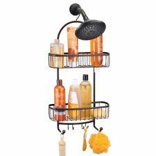 mDesign Metal XL Bathroom Tub & Shower Caddy, Hanging Storage Organizer - Bronze