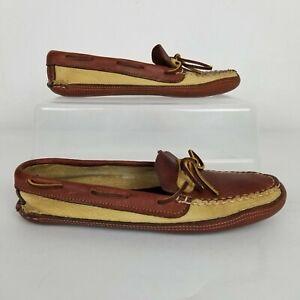 Gokey USA Leather Slip On Moccasins Camp Shoes Size 9