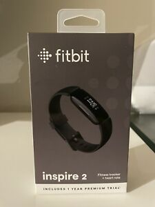 FITBIT Inspire 2 Black Health & Fitness Tracker + 1 Free Year Premium Trial NEW
