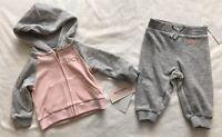 JUICY COUTURE Velour Embelished Jacket/Jogger Set - Baby Girl - 3/6 Months