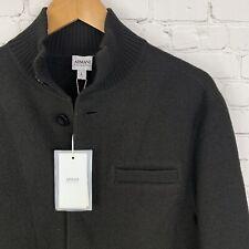 Men's NWT Armani Collezioni (L) MSRP $495 Dark Olive 100% Wool Cardigan Sweater