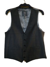 John Lewis Grey Waistcoat Wool Super 100s 40R 102cm