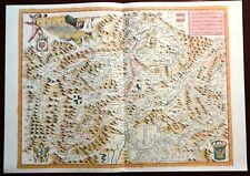 Carta geografica VALTELLINA VALCHIAVENNA REZIA Coronelli 1985