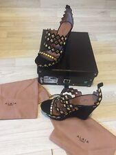 Alaia Shoes BNIB Studded Black Sandals Azzedine Alaia High Size EU36 / UK3 £1560