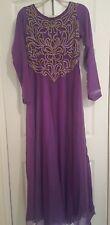Vestido de fiesta Maxi de Asia púrpura cubierta completa Forrado Talla 8