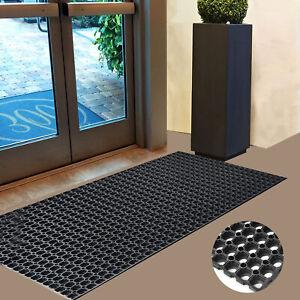 Non Slip Large Industrial Rubber Ring Door Mat House Outdoor Entrance Carpet Rug