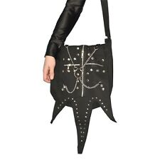 Gothic Bag with Studs, Chains & Zipper Shoulder Bag