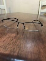Dior Womens Black Wire Eyeglasses Frames Reader Style Frameless NWOT Rhinestones