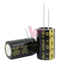 2X Electrolytic 63V 4700uF 22X35mm Capacitors High Frequency Aluminum Capacitor