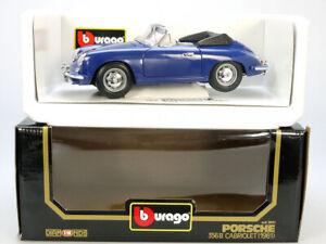 Bburago 3051 Porsche 356 B Cabriolet Bleu MIB Neuf 1/18 Emballage 1407-01-92