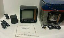 "Vintage-Rhapsody personal portable B&W TV 4.5""-AC & Car Adapter-Vintag Headphone"