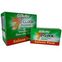 Gillette 7 O'Clock PERMASHARP Green Double Edge Safety Razor Blades FREE SHIP!!