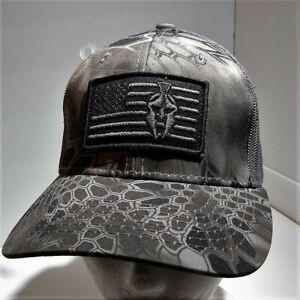 KRYPTEK Spartan American Flag CAMO HAT Mesh Baseball Trucker Cap Snapback NWOT