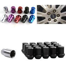 Black M12 x 1.5 Spline Drive Tuner Lug Nuts 20 Pcs w Key Wheel Locks alloy steel