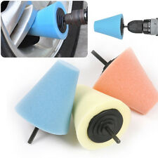 Foam Cone Shaped Sponge Polishing Pads for Car Wheel Hub Wheel - Use Power Drill