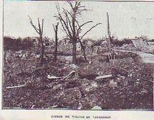 1922  --  ENTREE DU VILLAGE DE VAUDESSON EN RUINES  T919