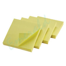 """400 Remove Sticky Post Notes 76mm x 76mm 3"""" x 3"""" (4 packs of 100)"""
