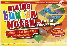 Glockenspiel Noten : Meine bunten Noten KINDERLIEDER Anfänger FARBEN - B-WARE