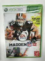 Madden NFL 12 EA Sports Xbox 360 Brand New Sealed NIB Complete CIB Football