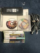 Xbox 360 Console With 9 Games Tested Working( Read Description )