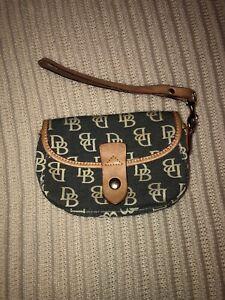 Dooney & Bourke Small Wristlet Wallet 4 x 6 leather logo