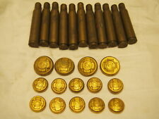 Antique 1898-1902 Spanish War Veterans Buttons & Used Bullet Casings