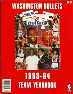 1993-94 Washington Bullets Official Team Yearbook