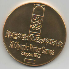 Winner medal    XI.Olympic W.Games SAPPORO 1972 -  Gold platet  !!  VERY RARE