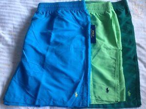NWT Polo Ralph Lauren Hawaiian Solid Big and Tall Pony Swim Suit Trunks Shorts