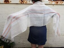 """Shawl 100% Linen NONZA by Libeco of Belgium 60 x 240 cm 24 x 94"""" Limited Stock"""