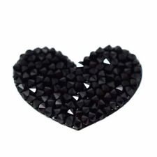 Crystal Sticker Black Heart made with Swarovski® Crystals - Mobile, iPhone, iPad