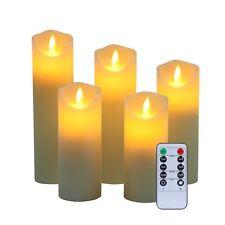 Sin llama velas de cera real no plástico pilares realista Led Dancing Moodo