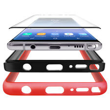 For Samsung Galaxy Note 8 Heavy Duty Rugged Dual Layer Case [GLASS SCREEN] Cover