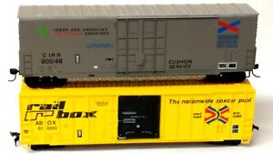 HO Scale Lot of (2) Roundhouse 50' Railbox Car, Custom Chattahoochee Plug Door