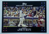 2007 Topps New York Yankees Derek Jeter George W. Bush & Mickey Mantle #40