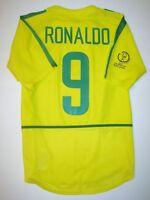 2002 World Cup Nike Brazil Ronaldo Jersey Shirt Real Madrid Milan Brasil Home