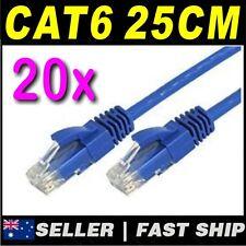 20 x 25cm 0.25m  Blue Cat 6 Cat6 1000Mbps  RJ45 Ethernet Network LAN Patch Cable