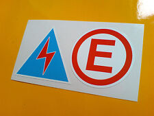 ELECTRICAL CUT OFF & FIRE EXTINGUISHER  Race Car Stickers 2 off 50mm each