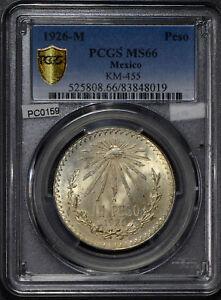 Mexico 1926 Peso silver cap and ray PCGS MS66 rare in this grade PC0159 combine