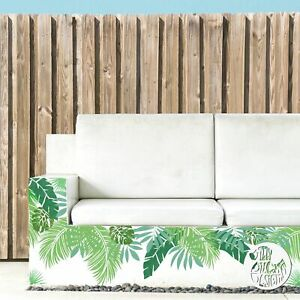 6 x Small JUNGLE LEAF Stencils for painting by Dizzy Duck Designs