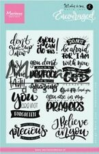 Marianne Design Clear Cling Stamps - Encouraged - 10pcs - KJ1724