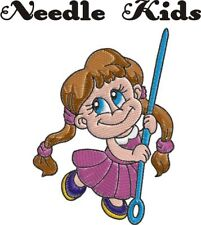 Needle Kids Machine Embroidery Designs set Sewing needle childern PES HUS JEF