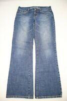 American Eagle Womens Jeans Favorite Boyfriend Boot Size 8 Blue Denim  32 Inseam