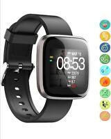Smartwatch Bluetooth Armbanduhr Herzfrequenzmessung Wasserdicht Schrittzähler
