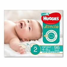 Huggies Ultimate Nappies, Unisex,Size 2 Infant (4-8kg), 96 Count